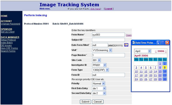 Image tracking system